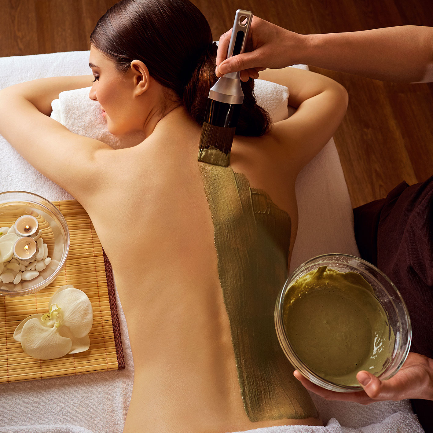 Damen Kosemetik Rückenbehandlung